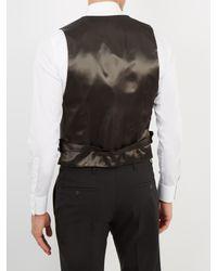 Alexander McQueen - Black Contrast-panel Wool Waistcoat for Men - Lyst