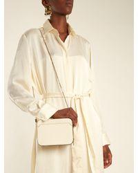 Valextra White Dada Grained-leather Cross-body Bag