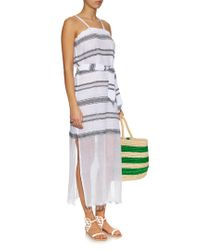 Lemlem | Blue Addis Multi-stripe Cover-up | Lyst