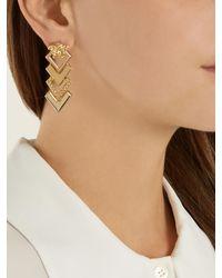Versace - Metallic Medusa Tiered Drop Earrings - Lyst