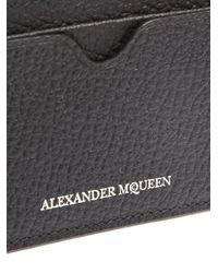 Alexander McQueen - Black Leather Cardholder - Lyst