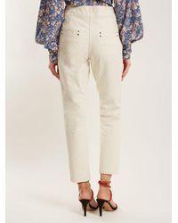 Isabel Marant - Natural Namiris High-rise Straight-leg Trousers - Lyst