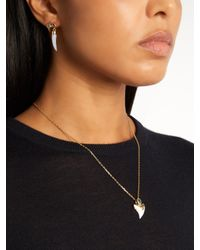 Theodora Warre - Metallic Apatite, Shark's-tooth And Gold-plated Necklace - Lyst