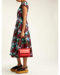 Marni - Red Trunk Medium Leather Shoulder Bag - Lyst