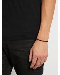 Luis Morais - Black Bead, Enamel And Yellow-gold Bracelet for Men - Lyst