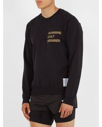 Satisfy - Black Cult Distressed Cotton Sweatshirt for Men - Lyst