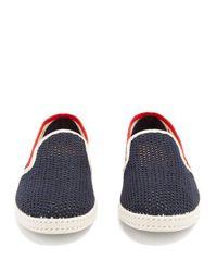 Rivieras - Blue Tour Du Monde Canvas Loafers for Men - Lyst