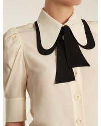 Chloé   Multicolor Tie-neck Silk Crepe De Chine Blouse   Lyst