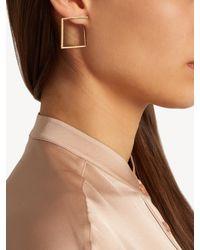 Azlee | Metallic White Light Diamond & Yellow-gold Earrings | Lyst