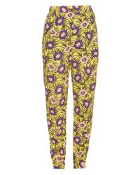 Marni - Yellow Asticon-print High-rise Straight-leg Trousers - Lyst