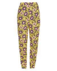 Marni - Yellow Asticon-print High-rise Straight-leg Trousers - Lyst