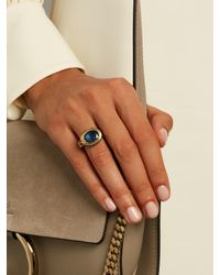 Jade Jagger | Blue Kyanite, Enamel & Yellow-gold Ring | Lyst