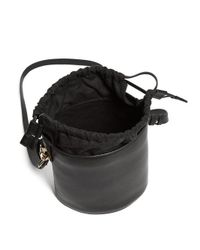 J.W. Anderson - Black Bucket Leather And Canvas Tote - Lyst