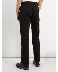 Balenciaga - Black Detachable-panel Cotton Trousers for Men - Lyst