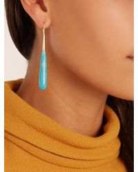 Irene Neuwirth | Blue Turquoise & Yellow-gold Earrings | Lyst