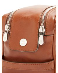 Brunello Cucinelli | Brown Grained-leather Washbag | Lyst
