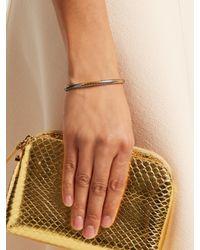 Bottega Veneta - Metallic Intrecciato-engraved Bracelet - Lyst