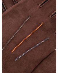 Paul Smith - Brown Gants en shearling à coutures contrastantes for Men - Lyst