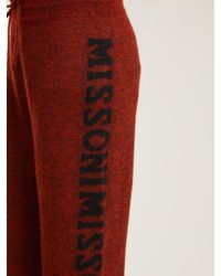 Missoni - Red Logo Knit Trousers - Lyst