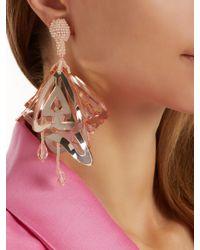 Oscar de la Renta - Pink Cayenne Large Clip-on Earrings - Lyst