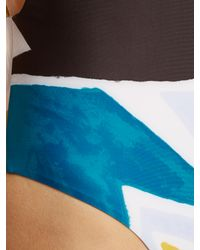 Mara Hoffman | Blue Superstar-print Swimsuit | Lyst
