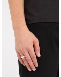Maison Margiela - Metallic Engraved Silver Ring for Men - Lyst