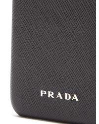 Prada - Black Leather Iphone 7® Case - Lyst