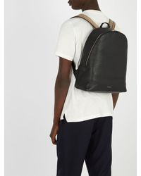 Paul Smith - Black Signature Stripe Leather Backpack for Men - Lyst