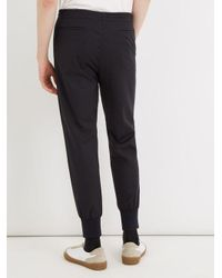 Paul Smith - Blue Pleat-detail Wool-blend Track Pants for Men - Lyst