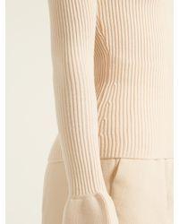 Khaite - White Bell-cuff Wool Sweater - Lyst