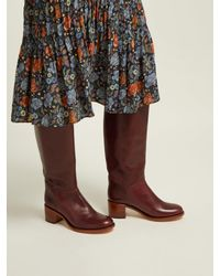 A.P.C. - Multicolor Iris Leather Knee High Boots - Lyst