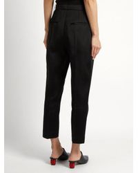 Maison Rabih Kayrouz - Black Pleated-front Tailored Trousers - Lyst