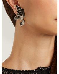 Lanvin - Multicolor Swan Asymmetric Clip-on Earrings - Lyst