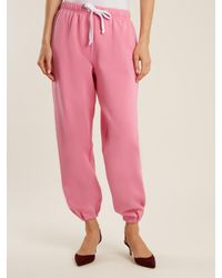 Natasha Zinko - Pink Drawstring-waist Jersey Track Pants - Lyst
