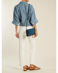Chloé - Blue Faye Small Suede And Leather Shoulder Bag - Lyst