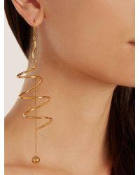 Ellery - Metallic Solitude Pendant-drop Gold-plated Earrings - Lyst