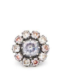 Bottega Veneta | Metallic Anello Cubic-zirconia And Sterling-silver Ring | Lyst