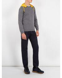 Valentino - Gray Detachable Hood Wool Sweater for Men - Lyst