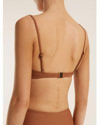 Matteau - Brown The Crop Bikini Top - Lyst