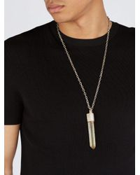 Parts Of 4 - Metallic Talisman Citrine-pendant Sterling Silver Necklace for Men - Lyst