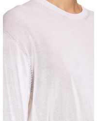 Calvin Klein - White Baber Long-sleeved Cotton-blend Jersey Top - Lyst