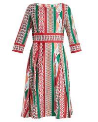 Le Sirenuse Multicolor Betty Arlechino-print Dress