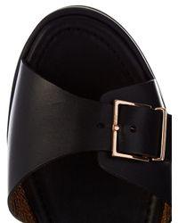 Clergerie - Black Feitv Leather Platform Sandals - Lyst