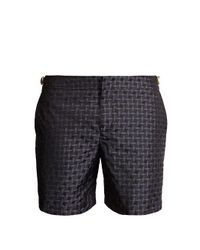 4d70f093583e5 Orlebar Brown Bulldog X Geometric-jacquard Swim Shorts in Gray for ...