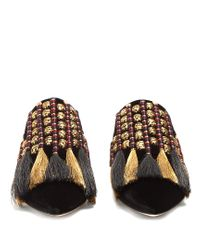 Sanayi 313 | Black Voltaire Velvet Slipper Shoes | Lyst