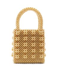 Shrimps - Yellow Antonia Faux-pearl-embellished Bag - Lyst