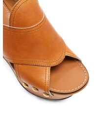 Chloé - Brown Mischa Platform Leather Wedges - Lyst