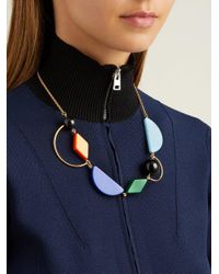 Marni - Multicolor - Geometric Resin And Metal Necklace - Womens - Multi - Lyst