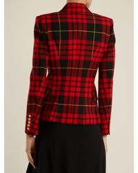 Balmain | Red Double-breasted Wool Blazer | Lyst