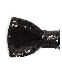 Saint Laurent - Black Sequin-embellished Bow Tie for Men - Lyst